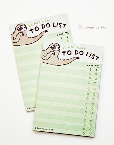 sloth to do list desk decor