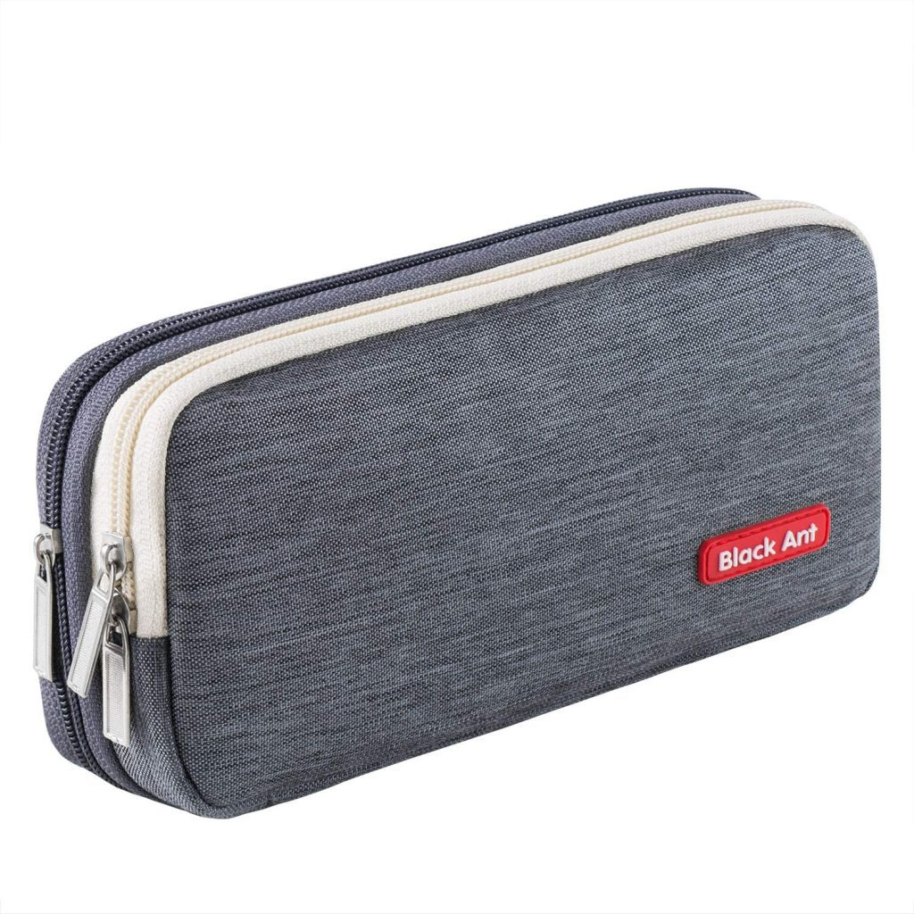 Puroma Pencil Case with 2 Compartments, Zipper Large Storage Pens Pouch Bag