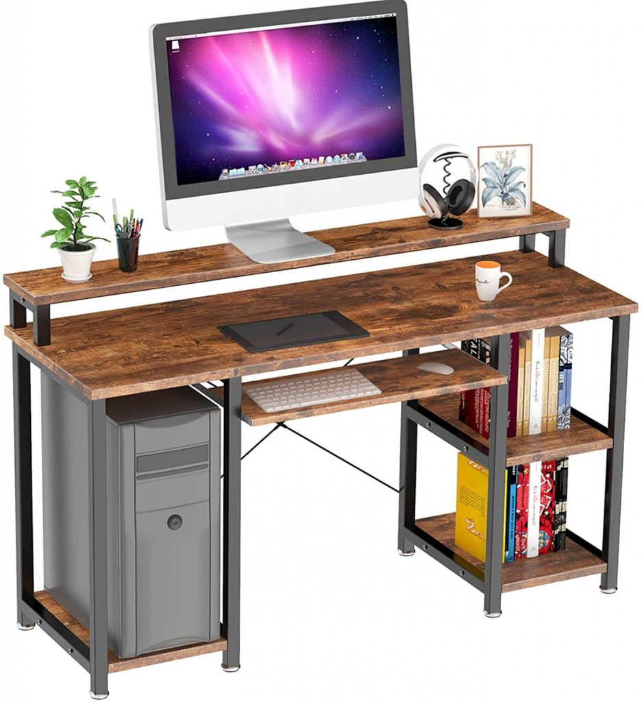 Noblewell Computer Desk with Monitor Stand
