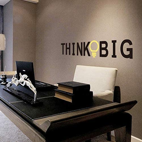 YttBuy Think Big Wall Decals Office Wall Decals Office Art Office Decor Office Decals Inspirational Decals Motivational Decals Inspirational Sign