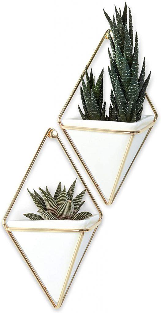 Umbra Trigg Hanging Planter Vase & Geometric Wall Decor Container