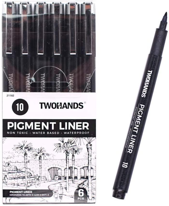 TWOHANDS Micro Black Ink Pens