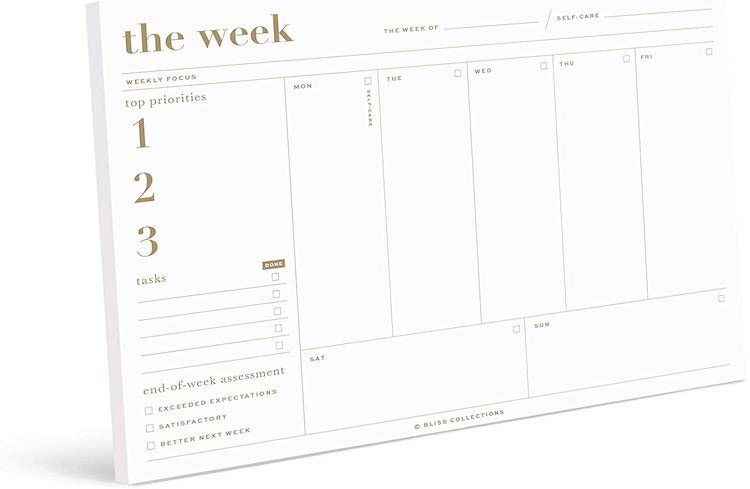 Bliss Collections Essential Weekly Planner