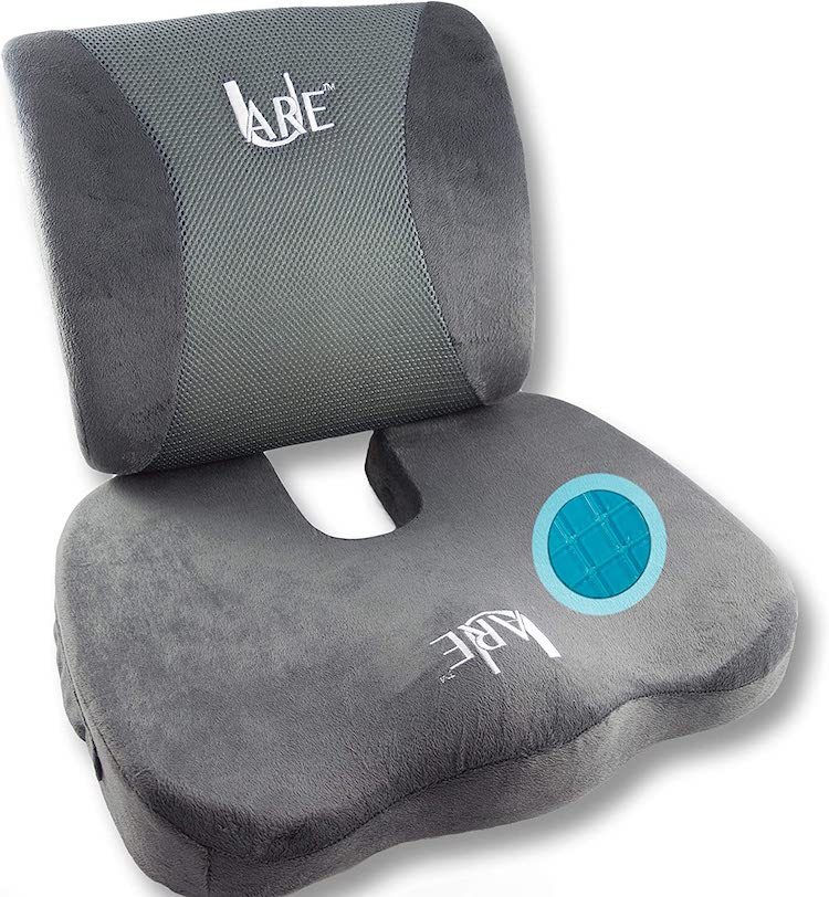 Cool Gel Memory Foam Seat Cushion with Rain Cover