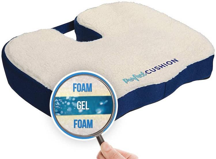 Perfect Cushion, Memory Foam & Gel Seat