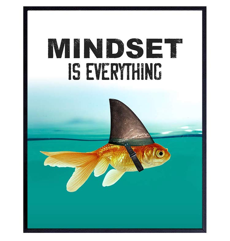 Mindset is Everything - Motivational Wall Art Poster