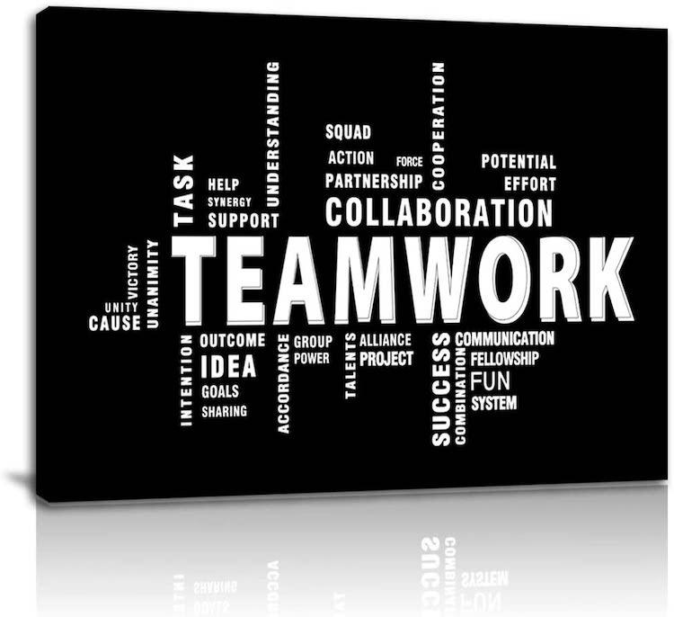 Teamwork Canvas Print Wall Art