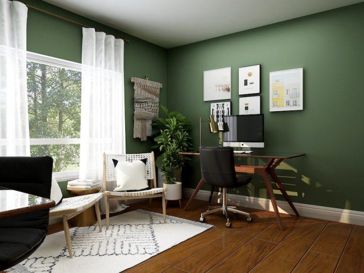 home office decor with wallprint